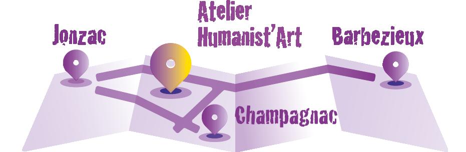 plan acces atelier humanist'art